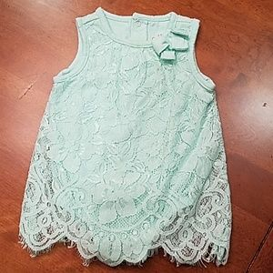 Lace baby onesie